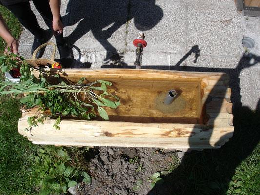 Gartenbrunnen NEU aus Kapruner Fichte