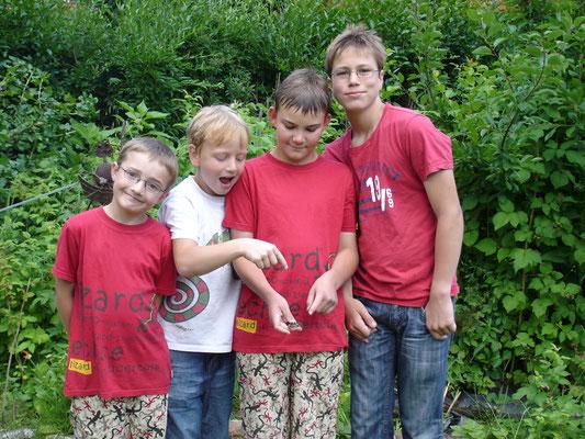 Orgelpfeifen - Geschwister mit Freunden