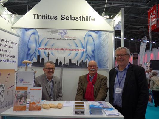 V.l.n.r.: Bernd Strohschein, Volker Albert (Präsident der DTL) und Rudolf Mandausch