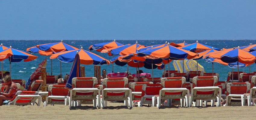 Strandleben in Maspalomas