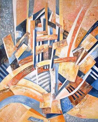 bateau livre - peinture contemporaine de Sylvie Boulet-disponible