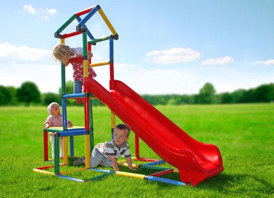 MyFirstQUADRO Klettergerüst Spielturm Integralrutsche