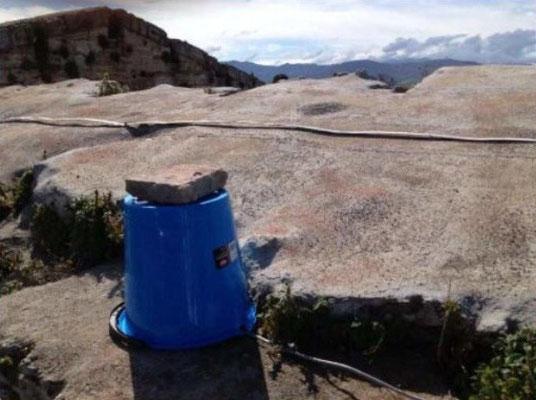 Instruments de mesure utilisés sur la partie haute du Temple de Neptune
