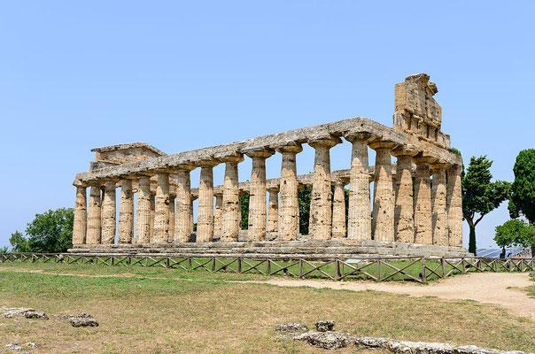 """Le temple d'Athéna, dit """"temple de Cérès"""". Crédit Wikimedia Commons"""