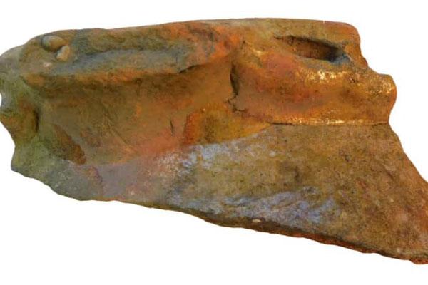 Cruche du 14ème siècle, trouvée lors d'une fouille sur le site de Cuerden. Copyright: Universiry of Salford