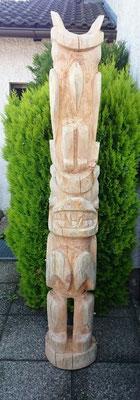 geschnitzt und geschliffen- Motiv Rabe und Bär