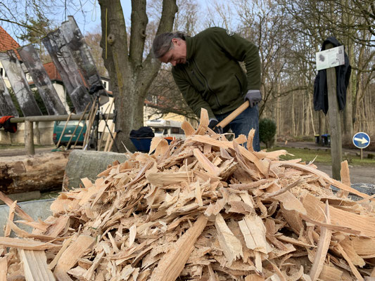 Das Buchenholz erfordert besonders viel Geduld und Ausdauer.