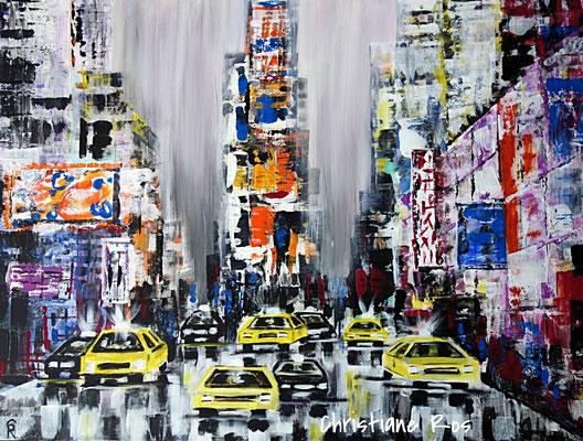 Times Square in New York City - Acryl - 60 X 80 cm (verkauft)