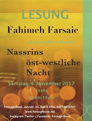 Nasrin ost-westliche Nacht - Fahimeh Farsaie