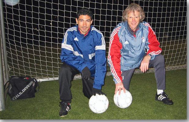 Beim dreiwöchigen Aufbautraining mit dem ehm. Ägyptischen Nationalspieler Mohamed Barakat auf dem FCB Gelände an der Säbener Str.