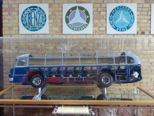 Anschauungsobjekt: selbsttragende Omnibuskarosserie