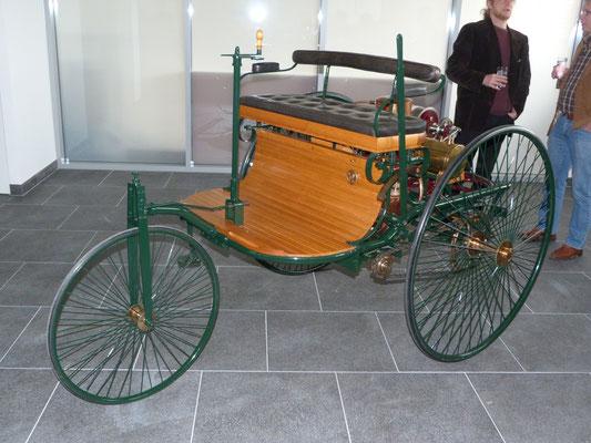 Benz 1886 Nachbau, Besitzer: Dieter Dressel