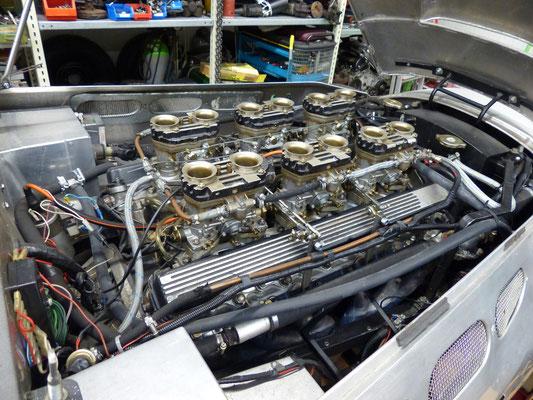 V12-Zylinder Jaguar-Motor in einem Ronart W 152, Besitzer: Gerd Röder