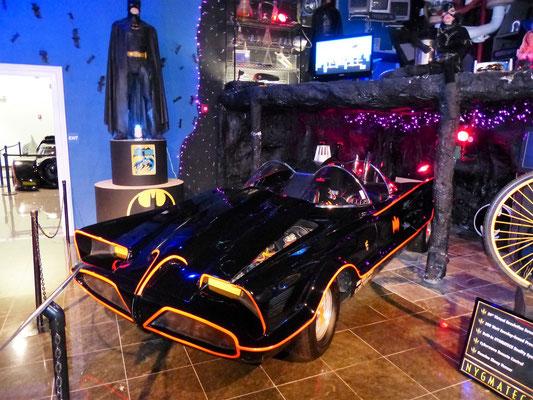 Das Original-Auto aus dem ersten Batman-Film, ein umgestalteter Lincoln Futura (selbst nur ein Prototyp!) aus den 50er Jahren,, zu sehen in der Deezer-Collection in Miami/USA