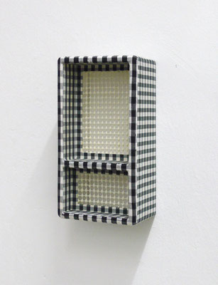 doppio, 2008, Holz, Karostoff, Anti-Rutschmatte, 26 x 13 x 9,5 cm