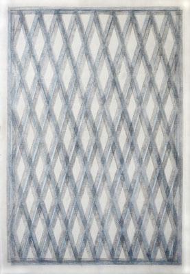 großes gewölbe, Zeichnung auf Gardinenstoff (3-fach),  2020, 60 x 42 cm