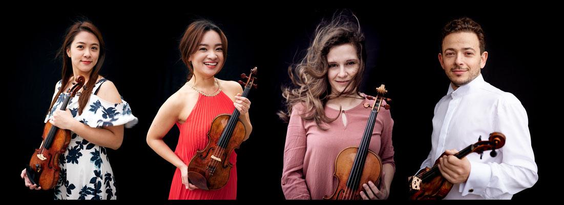 Vier wunderbare Solisten für Vivaldis Vier Jahreszeiten   Tsung-Chih Lee, Yukiko Suzuki, Annemarie Gäbler, Dmitri  Stambulski, September 2020