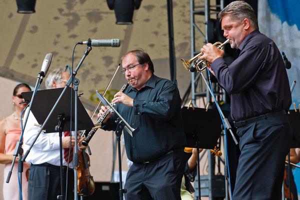 Solisten Norbert Strobel, Oboe und Bernd Bartels, Trompete