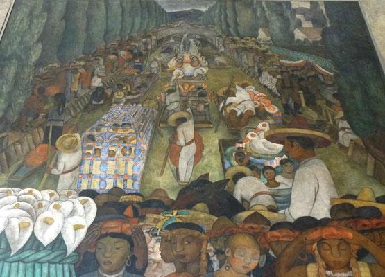 Fresque de Diego Rivera (détail)