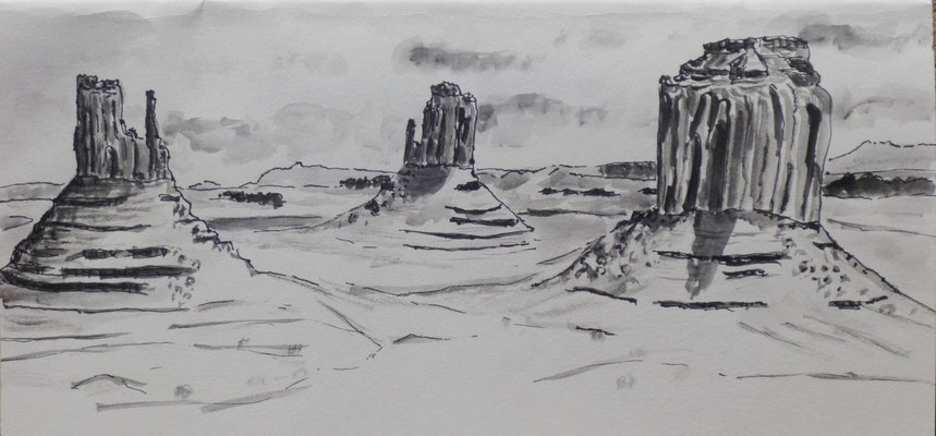 Monument Valley, croquis de Daniel