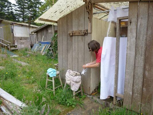La douche en plein air