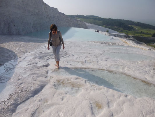 Pieds nus sur la glace ? Non, sur le carbonate de calcium