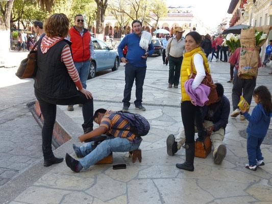 cireurs de chaussures à San Cristobal