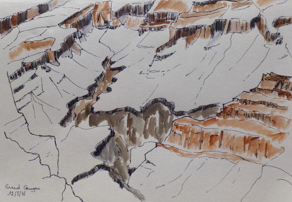 Grand Canyon, croquis de Frédérique
