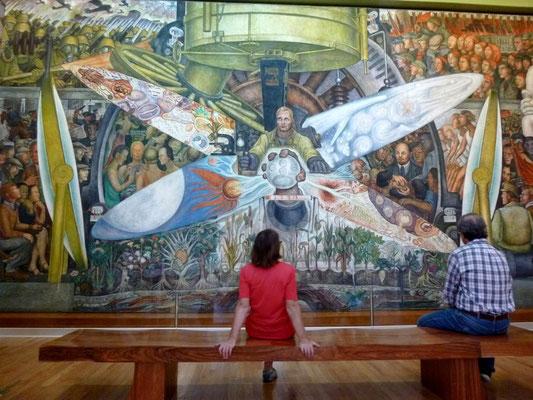 Fresque de Diego Rivera au Palais des Beaux Arts de Mexico
