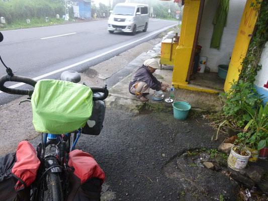 Vaisselle trottoir