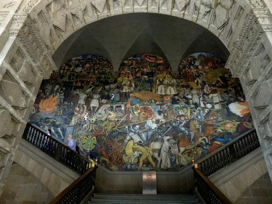 Fresque de Diego Rivera au Palais National de Mexico