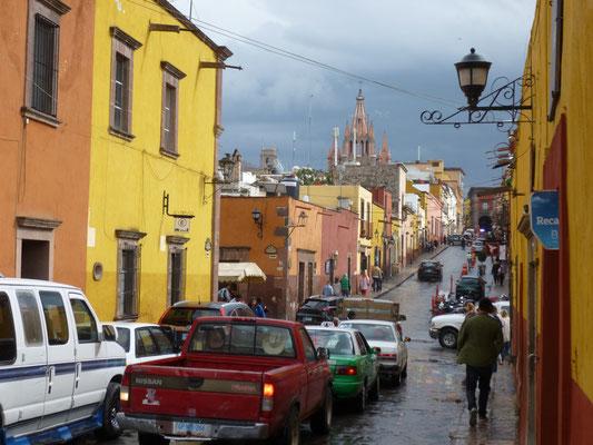 San Miguel de Allende sous la pluie
