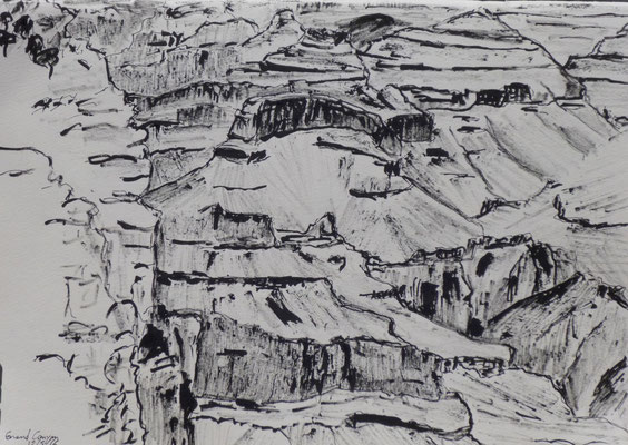 Grand Canyon, croquis de Daniel