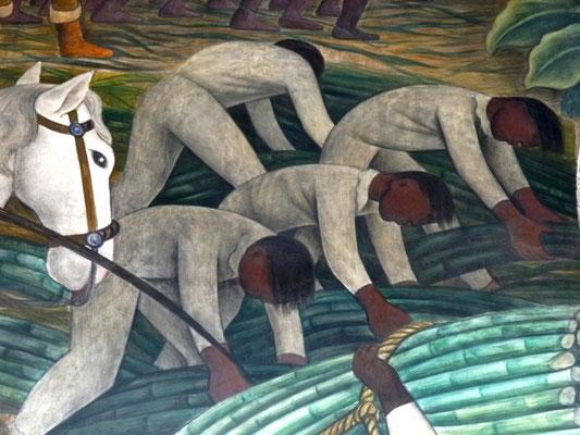 Fresque murale de Diego Rivera, détail