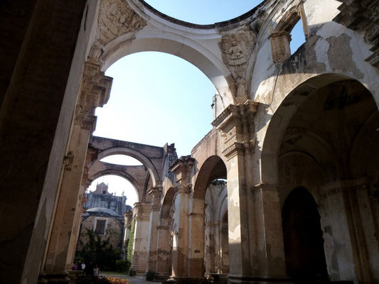Ruines d'une église d'Antigua