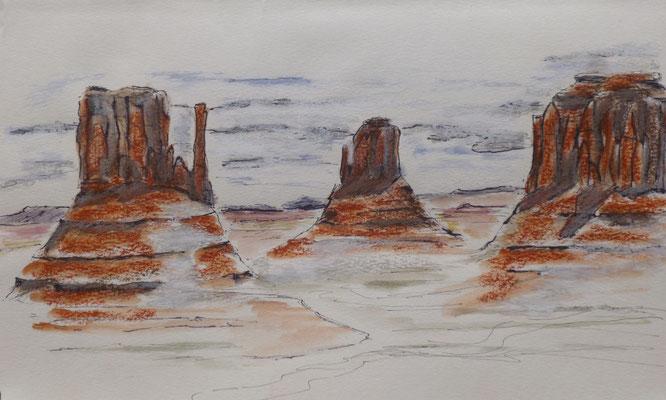 Monument Valley, croquis de Frédérique