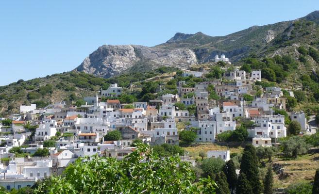 Village de l'intérieur de Naxos