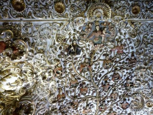 Le plafond de l'église Santo Domingo d'Oaxaca