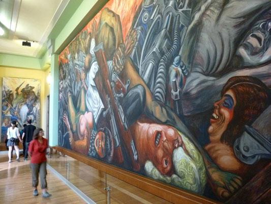 Fresque de Siquieros, Palais des Beaux Arts de Mexico