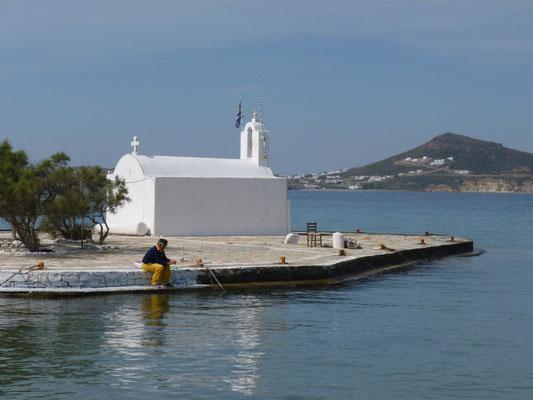 Dans le port de Naxos