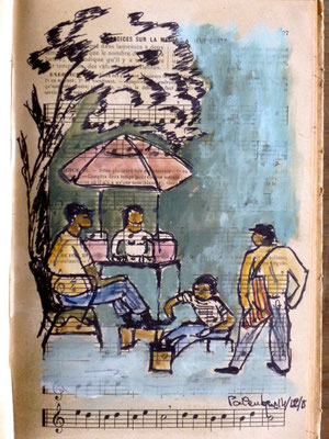 cireur de chaussures à Palenque