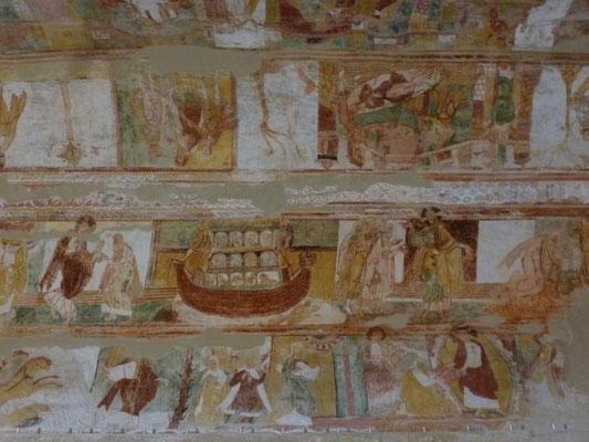 Détail de fresque à Saint Savin