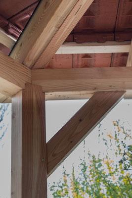 Bauplan Holz - Kopfband und Pfettenauflager