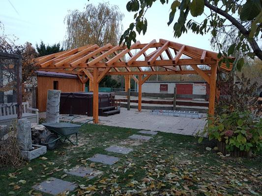 Terrassenüberdachung nach Bauplan