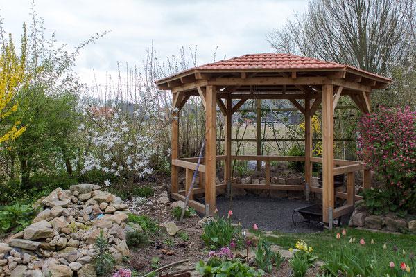 Bauplan Holz - Grillpavillon mit Pfannendach