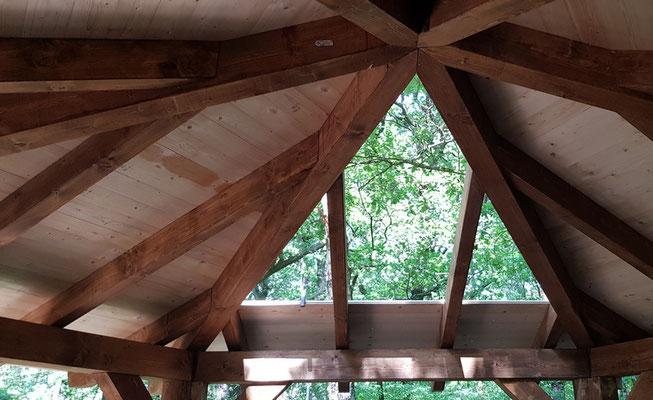 Dachkonstruktion Schutzhütte Pavillon