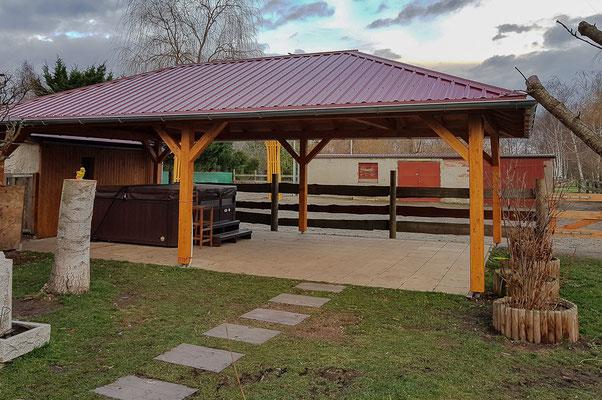 Wellnessbereich Holzbau