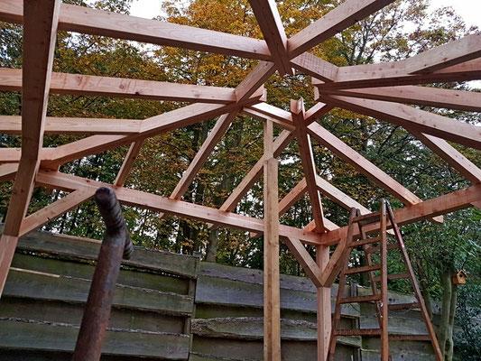 Grillpavillon - Unteransicht Dchkonstruktion