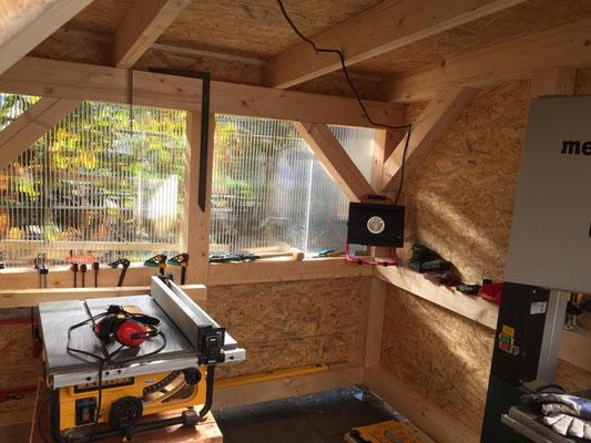 Überdachung Werkstatt