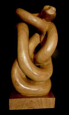 Boa exotique.   Bois exotique, H 55cm.